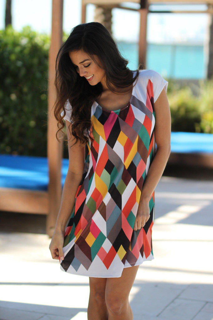multi color cute dress