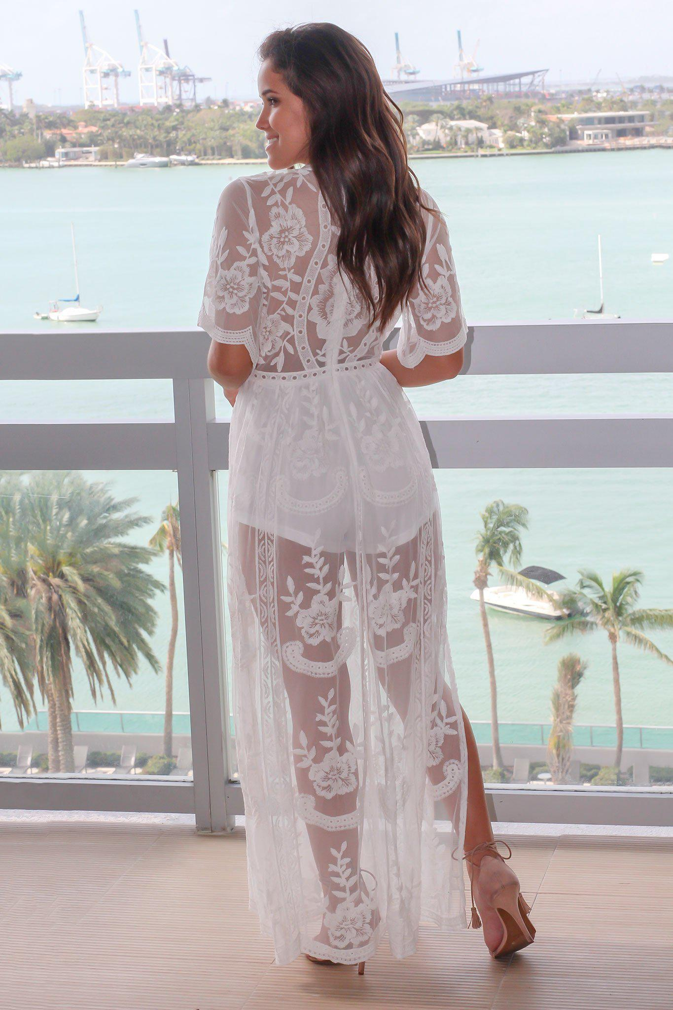 Lace maxi dress boutique