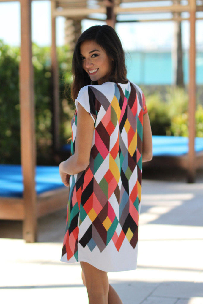 multi color casual dress