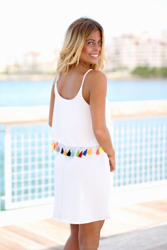 white cruise dress