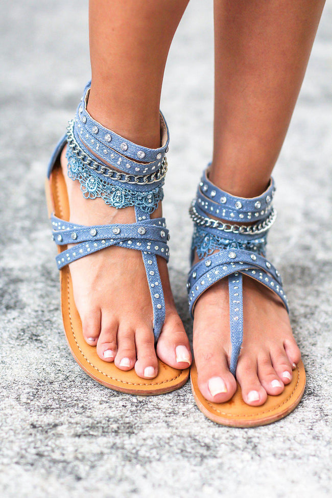 Wilma Blue Denim Sandals