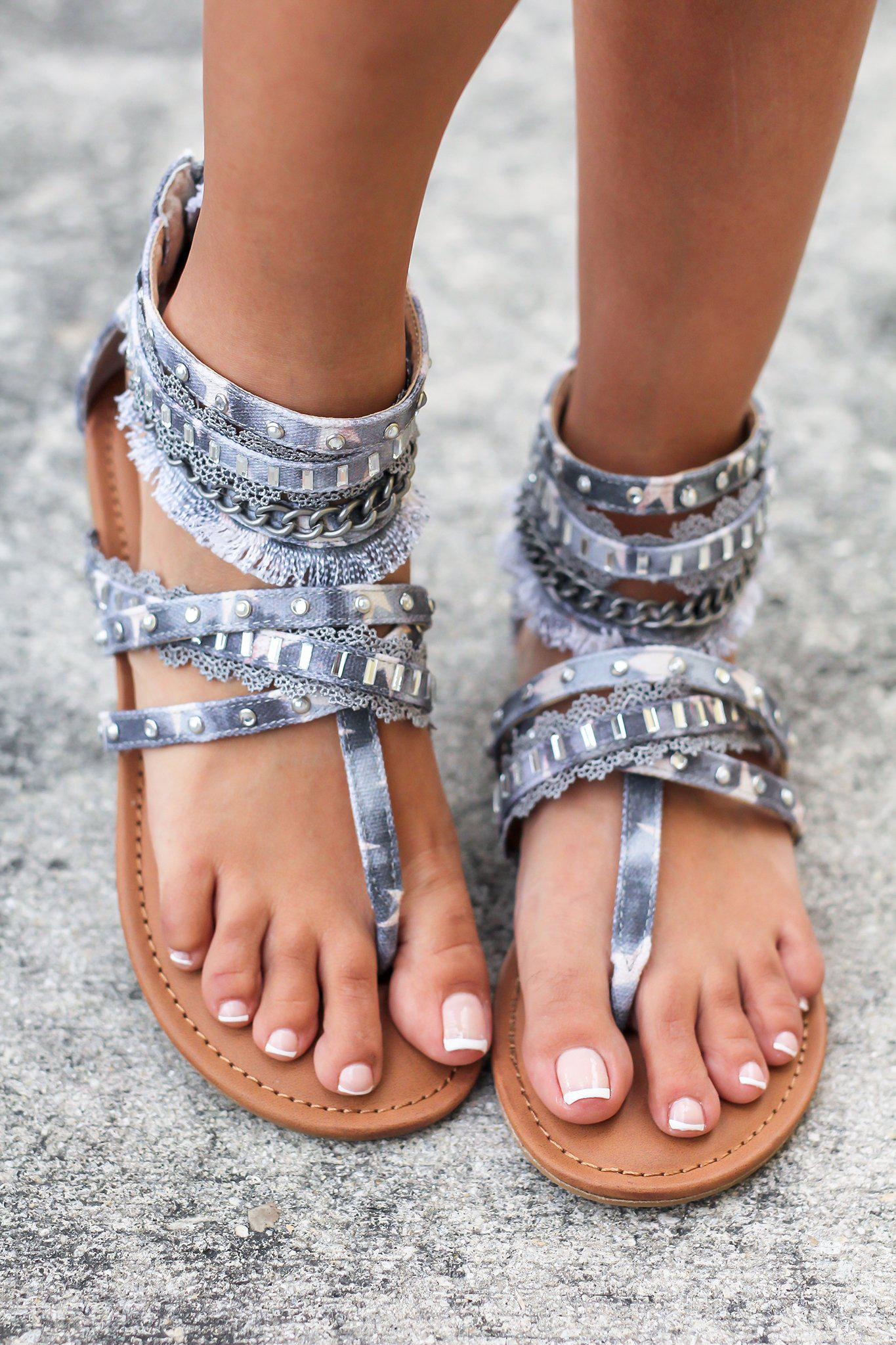 Xara Light Blue Sandals
