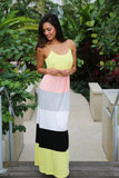 Yellow And Peach Maxi Dress