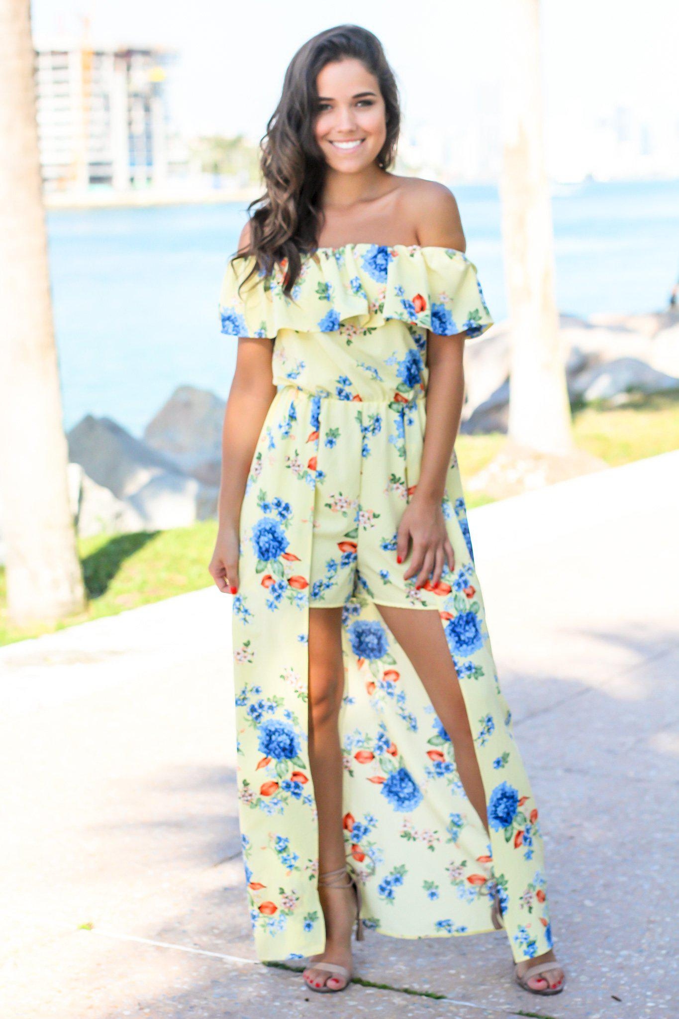 Yellow Maxi Rompers