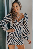 Zebra Printed Short Dress