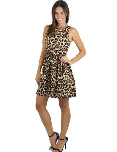Animal print dress - main image