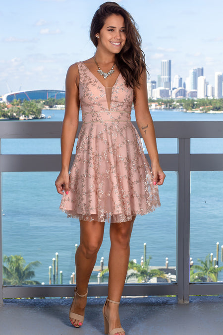 Dusty Blush Short Dress