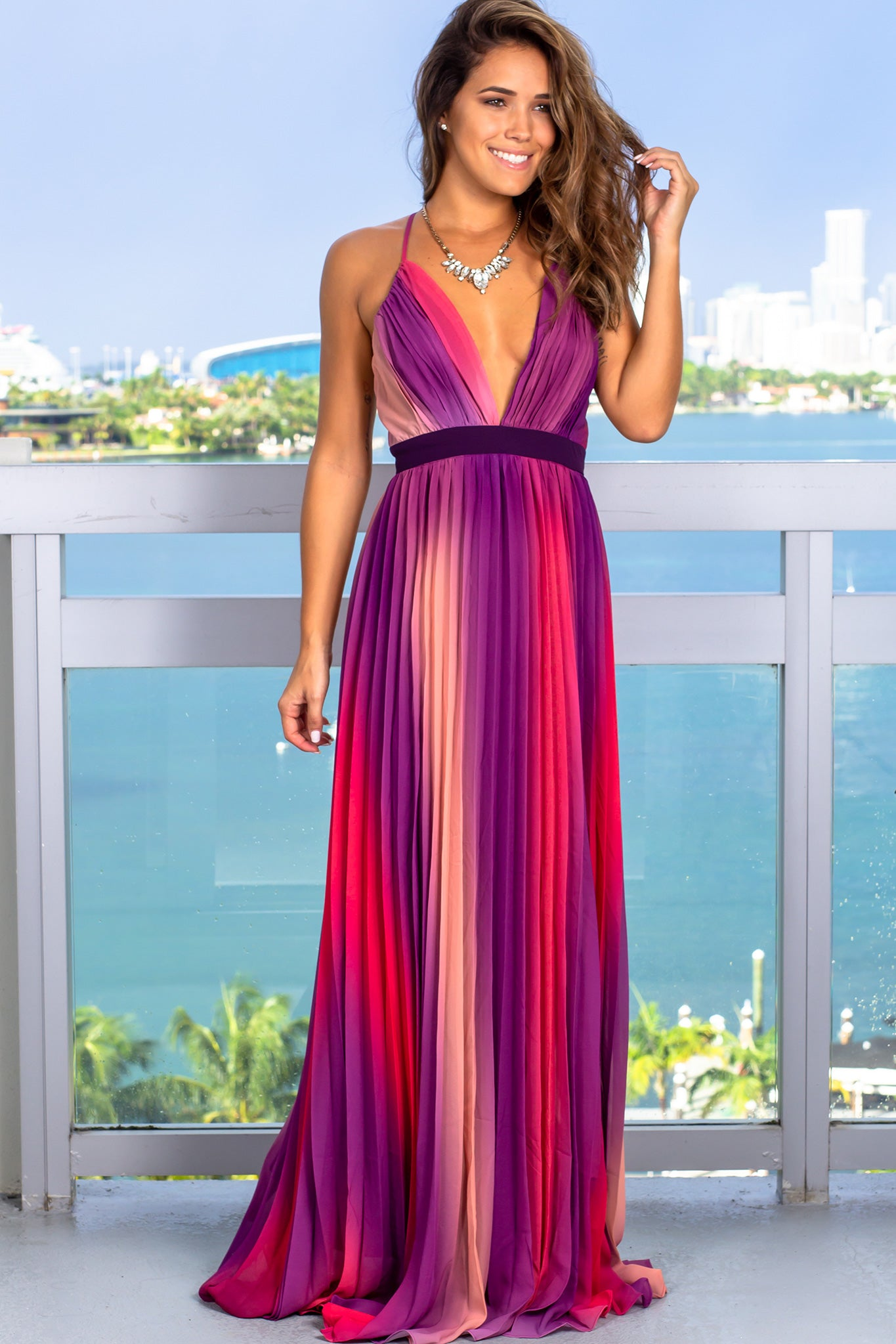 Purple Ombre Maxi Dress