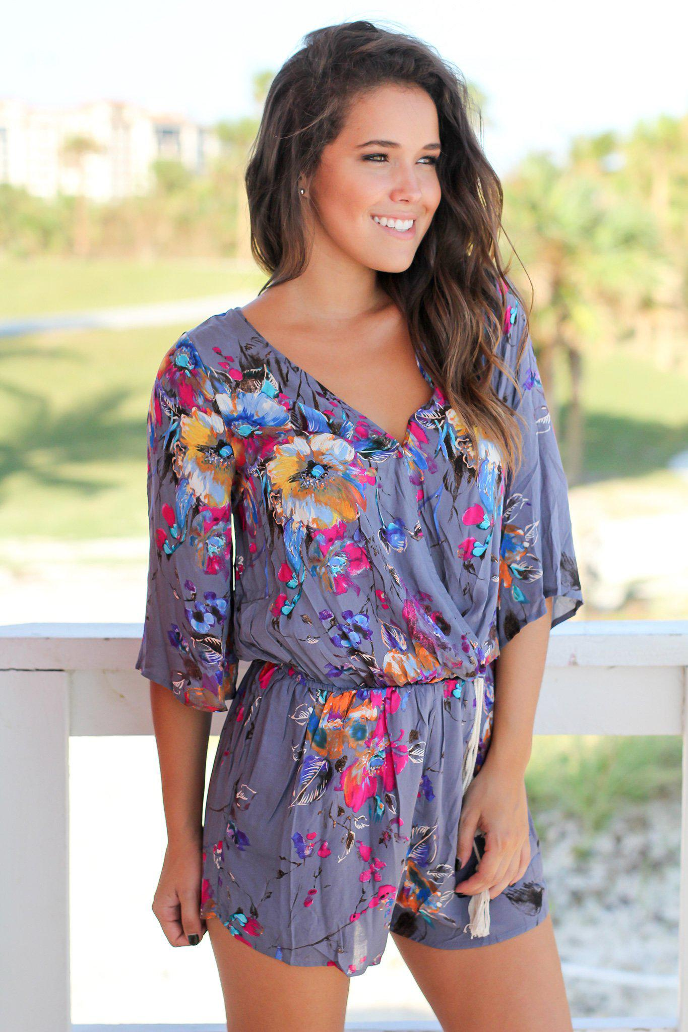 beautiful floral romper