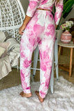 berry tie dye cute pants