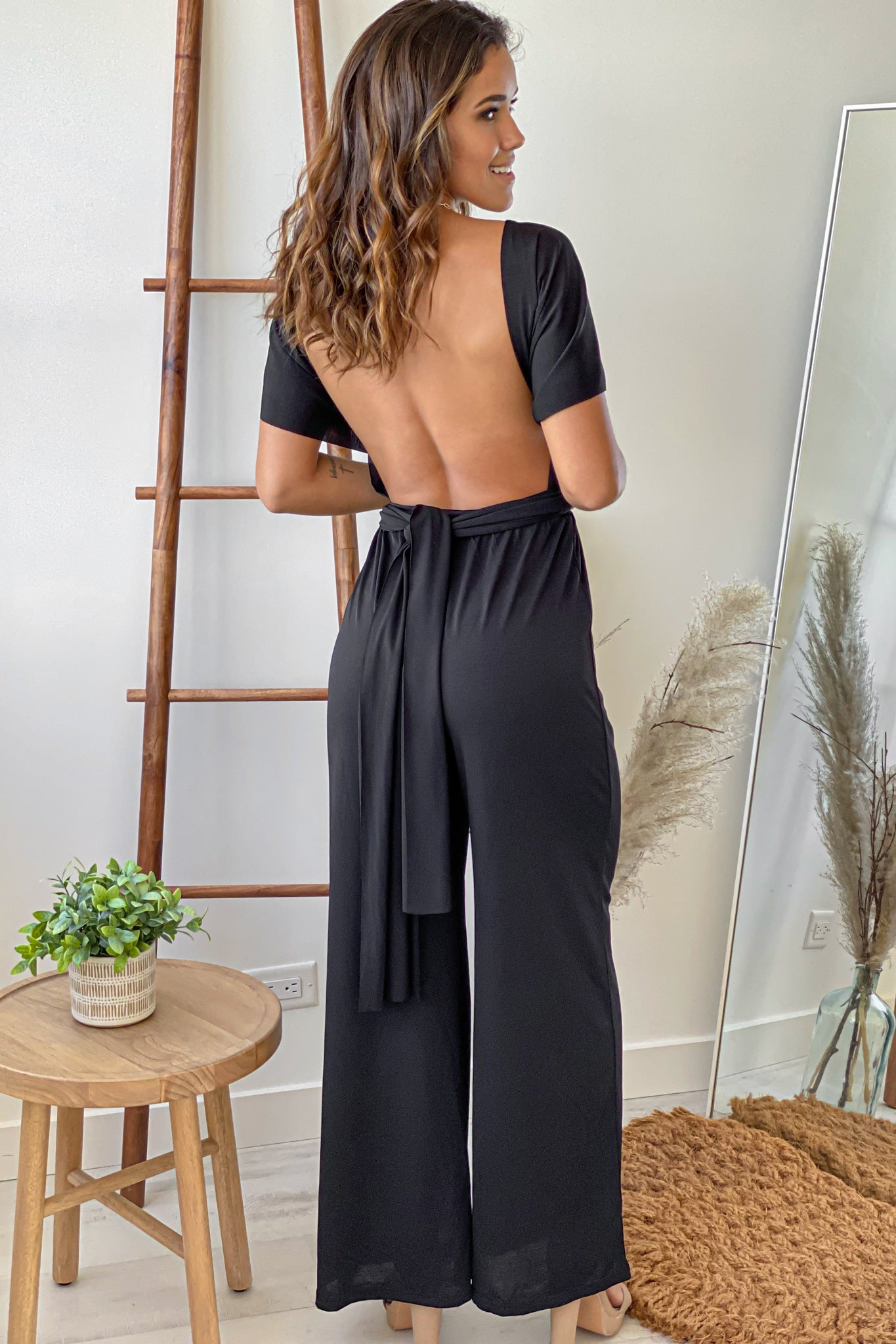 black casual jumpsuit