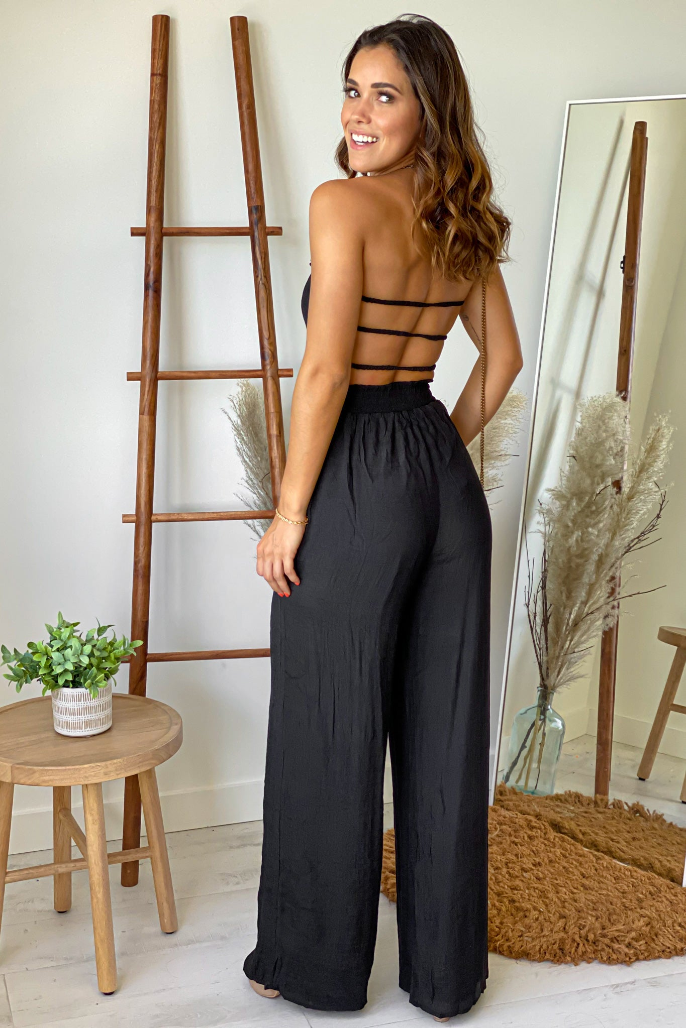 black cute jumpsuit