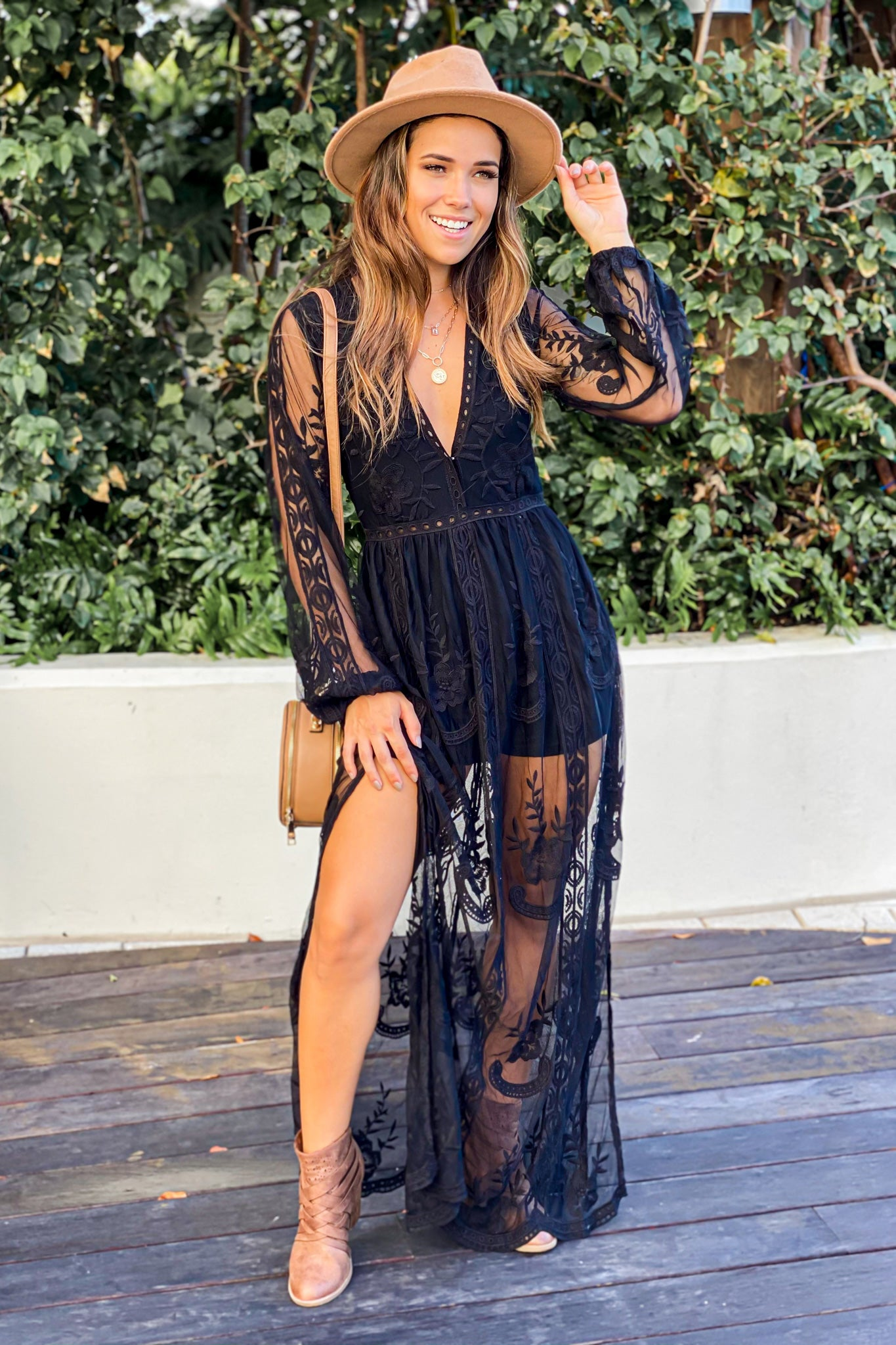 black cute maxi romper