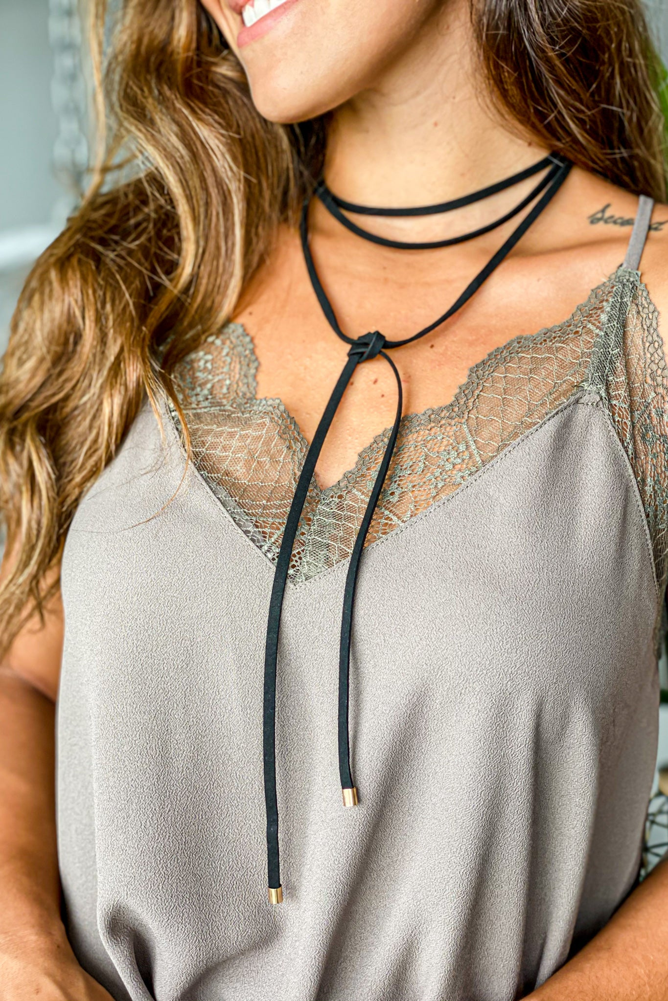 black cute necklace