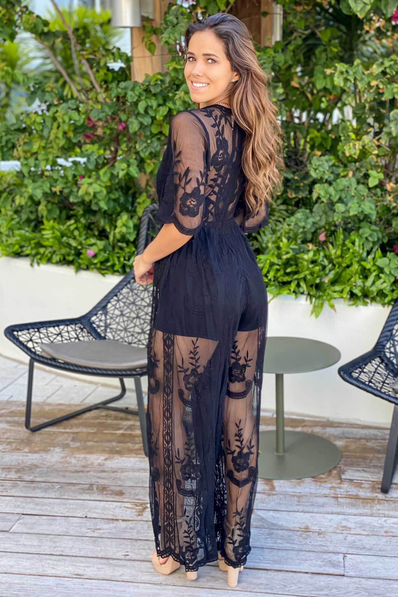 black formal jumpsuit