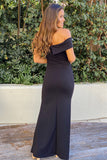 black formal maxi dress