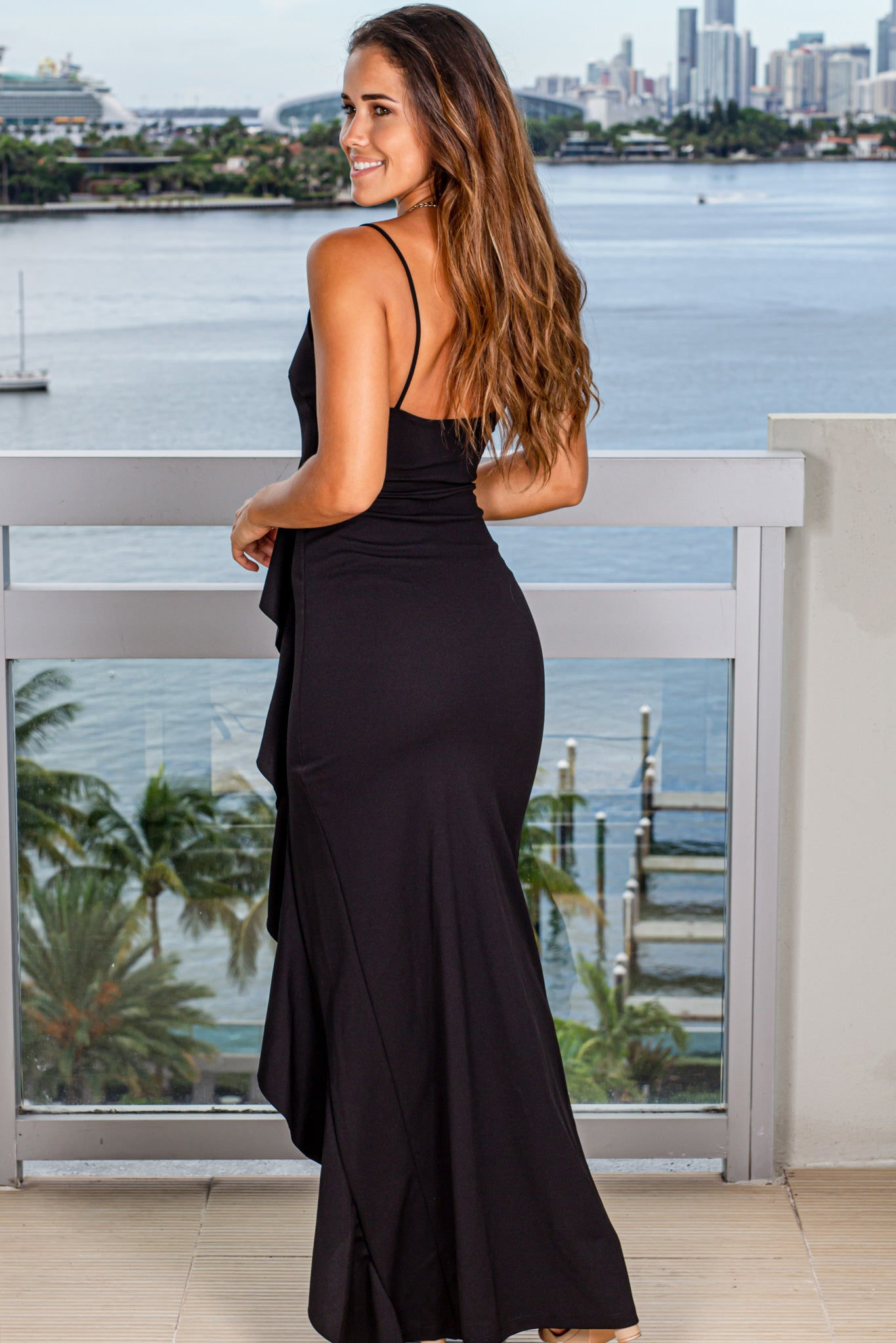 black special occasion maxi dress