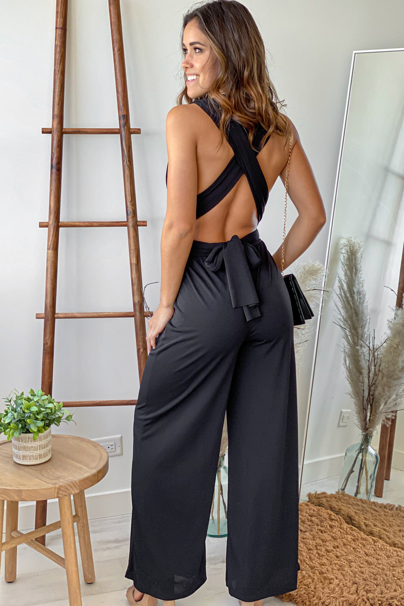 black versatile jumpsuit