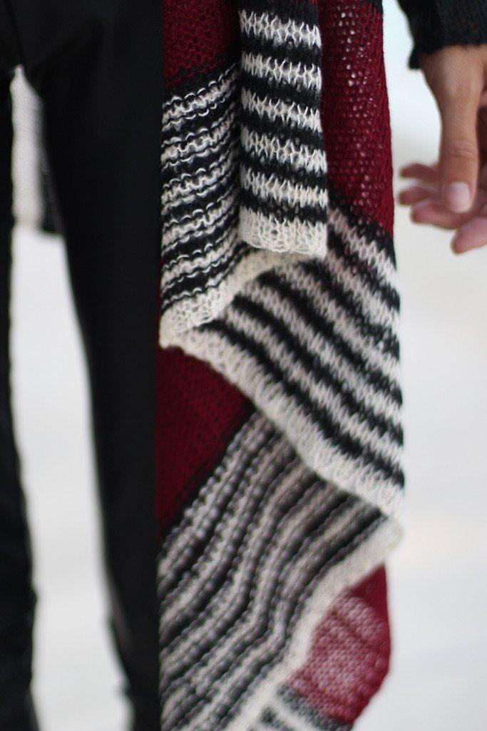 Black and Burgundy Cardigan