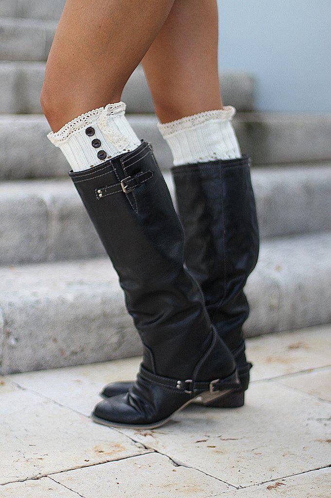 black winter boots