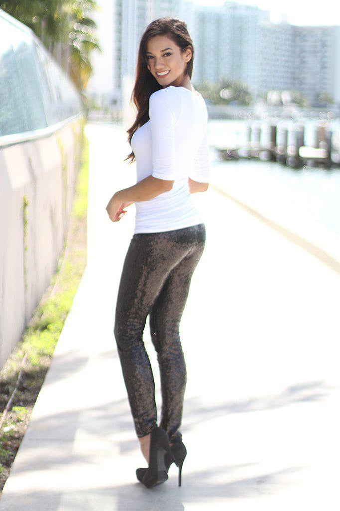 black evening pants