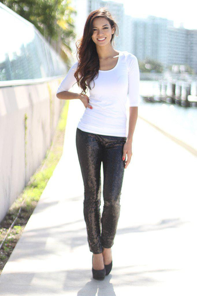black dressy leggings