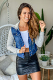 blue jean casual jacket