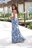 damask long skirt
