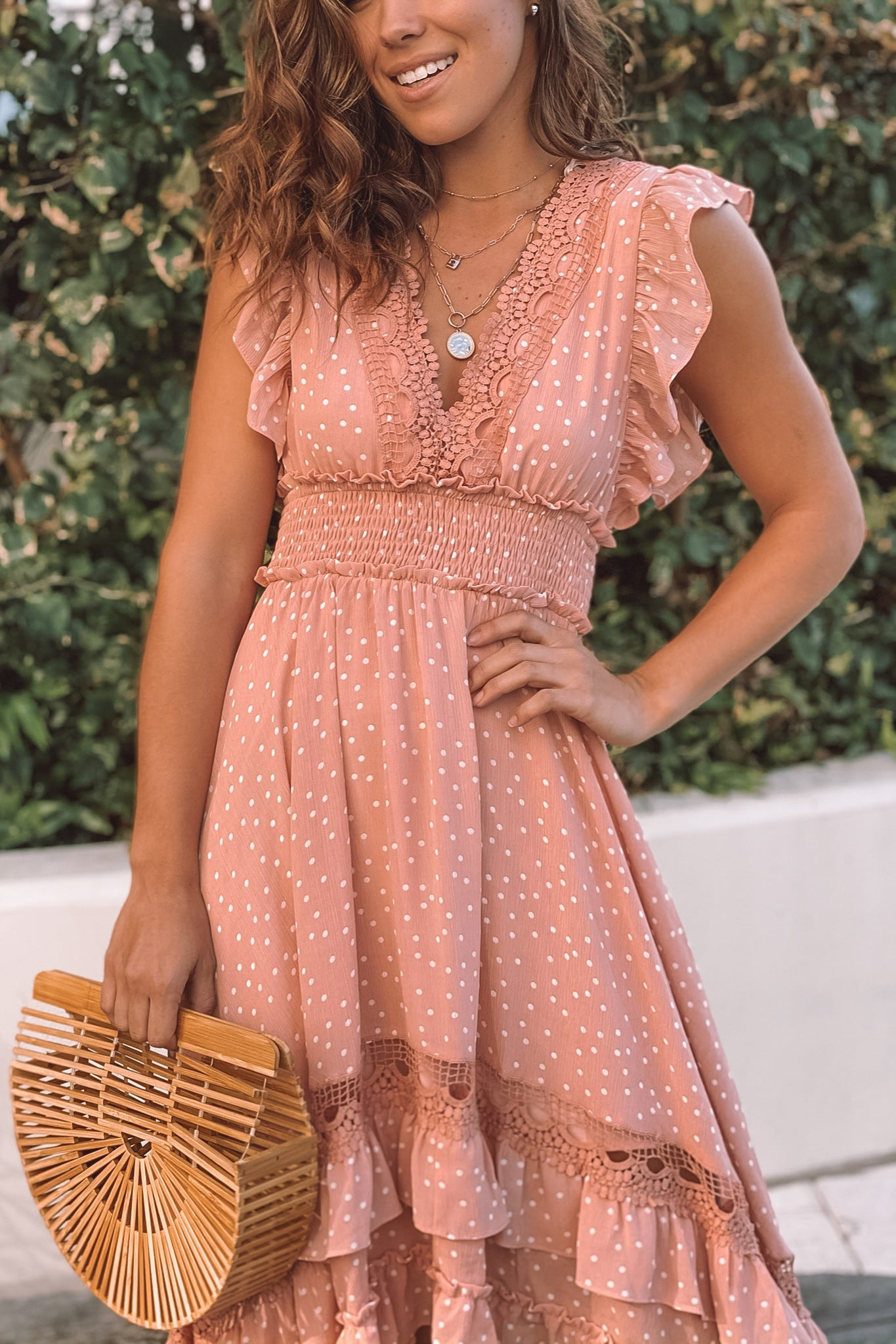 blush casual high low dress