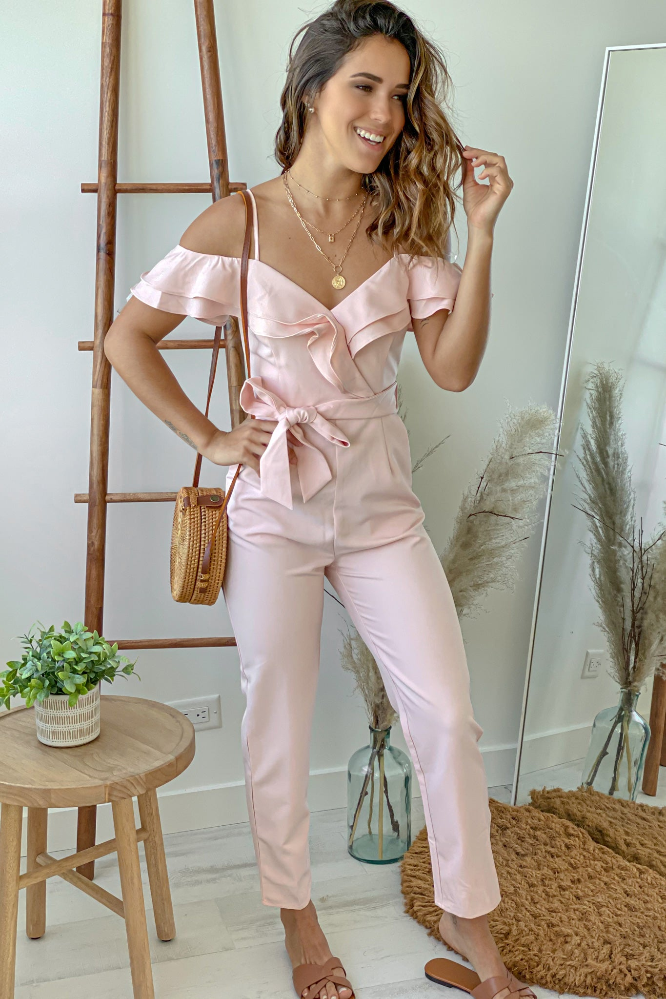 blush cute jumpsuit