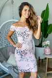 blush floral summer dress