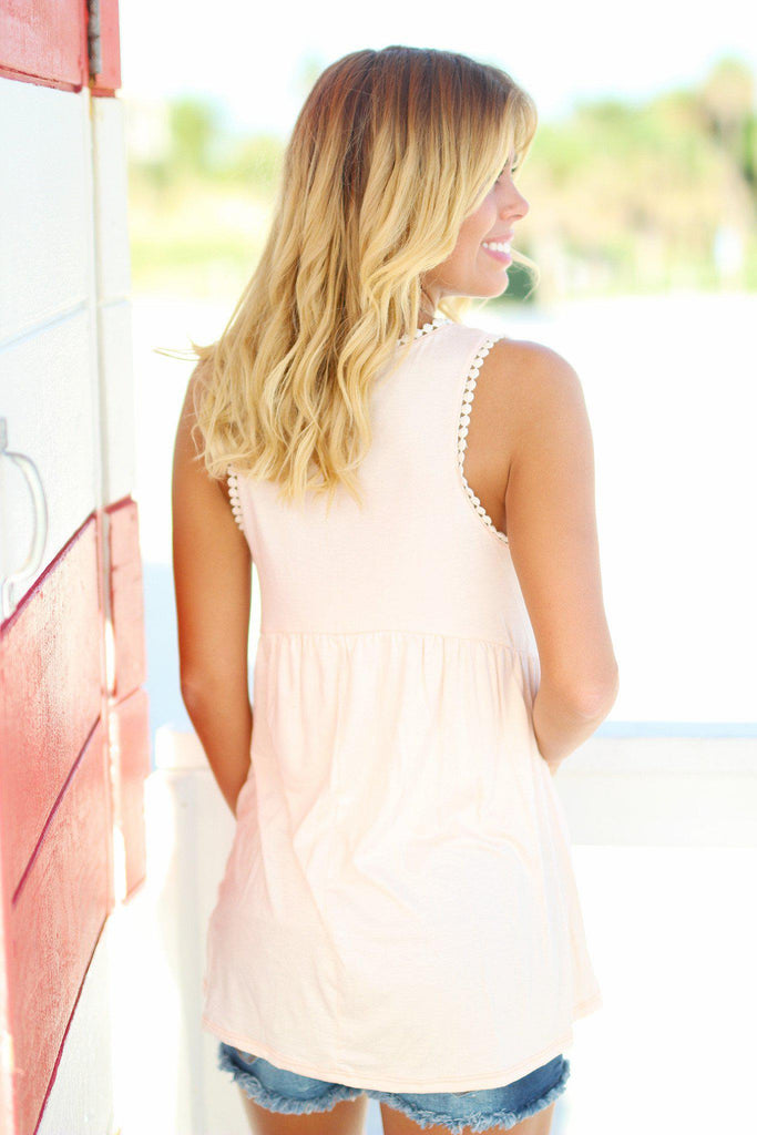 Blush Baby Doll Top