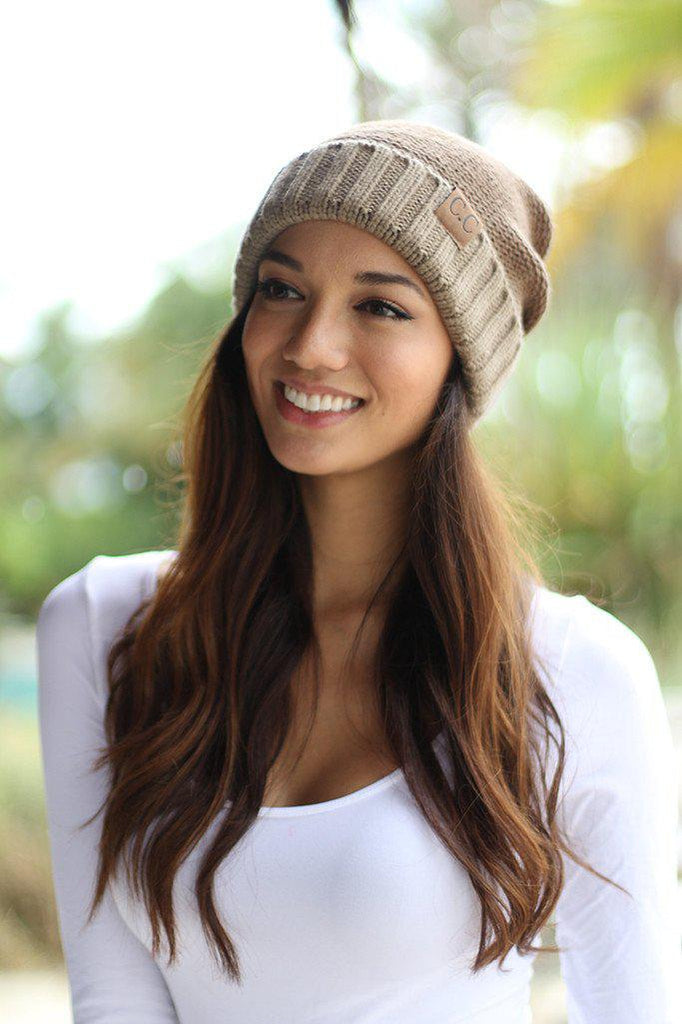 Brown Ombre Knit Beanie