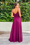 burgundy bridesmaid maxi dress