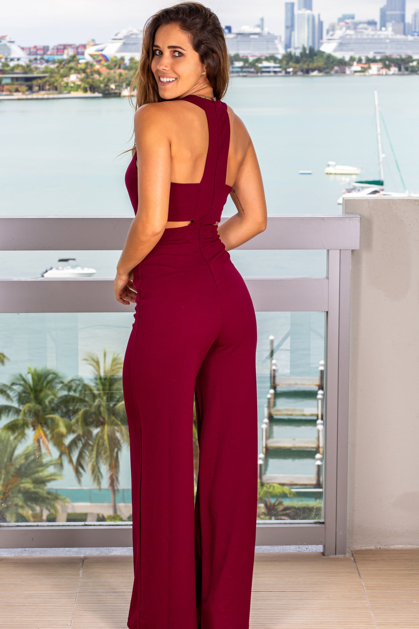 burgundy formal-jumpsuit