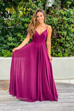burgundy maxi dress with embroidered back and button detail