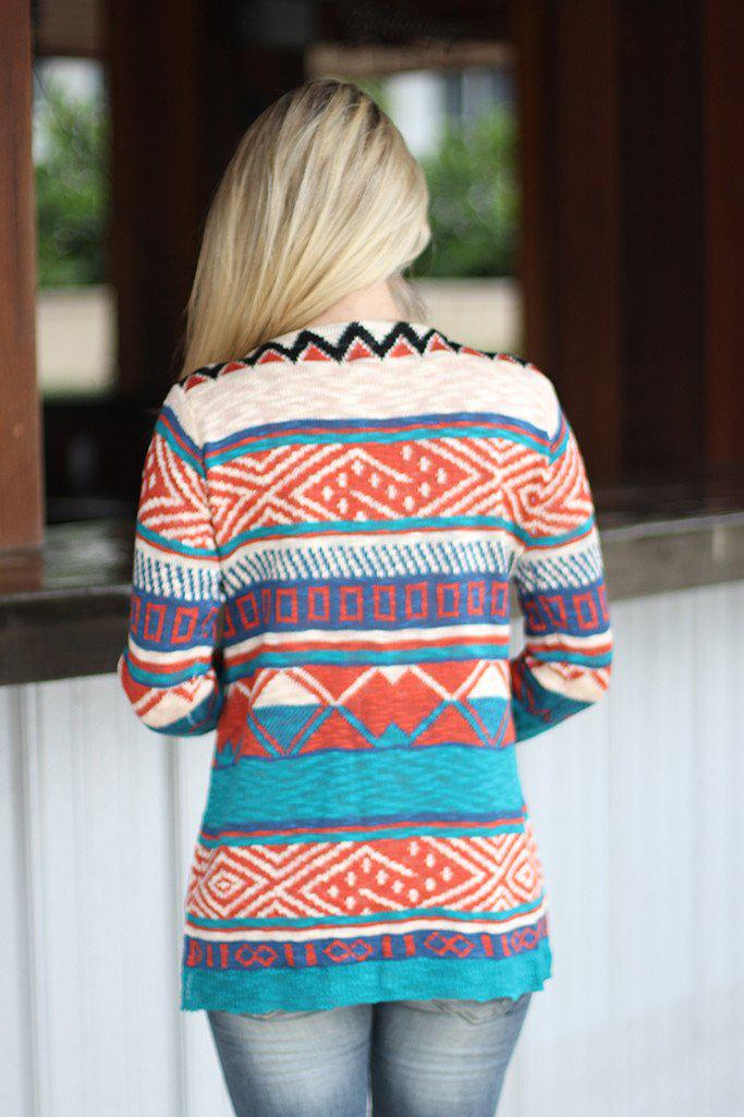 Multi Color Tribal Cardigan