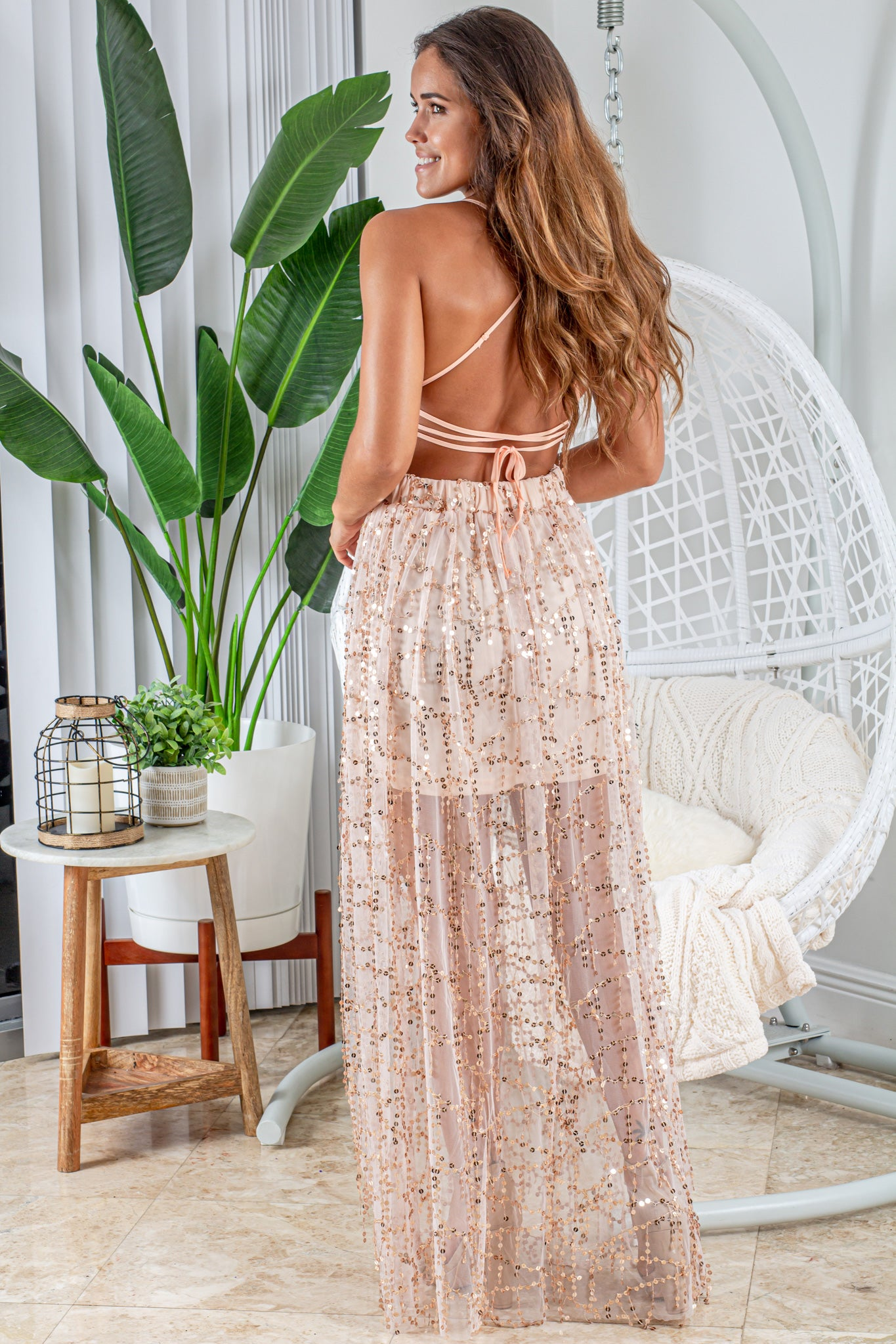 champagne formal maxi dress