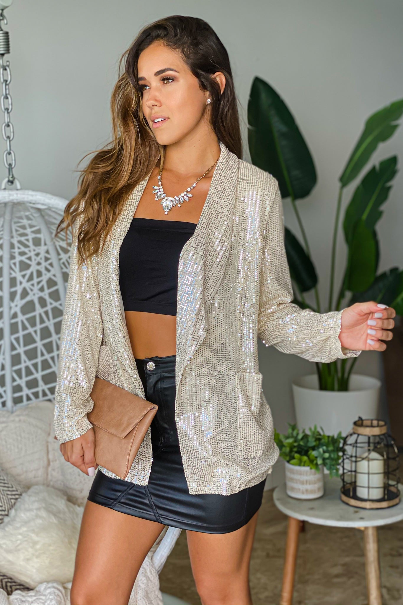 champagne party blazer
