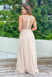 Champagne party dress with mesh back