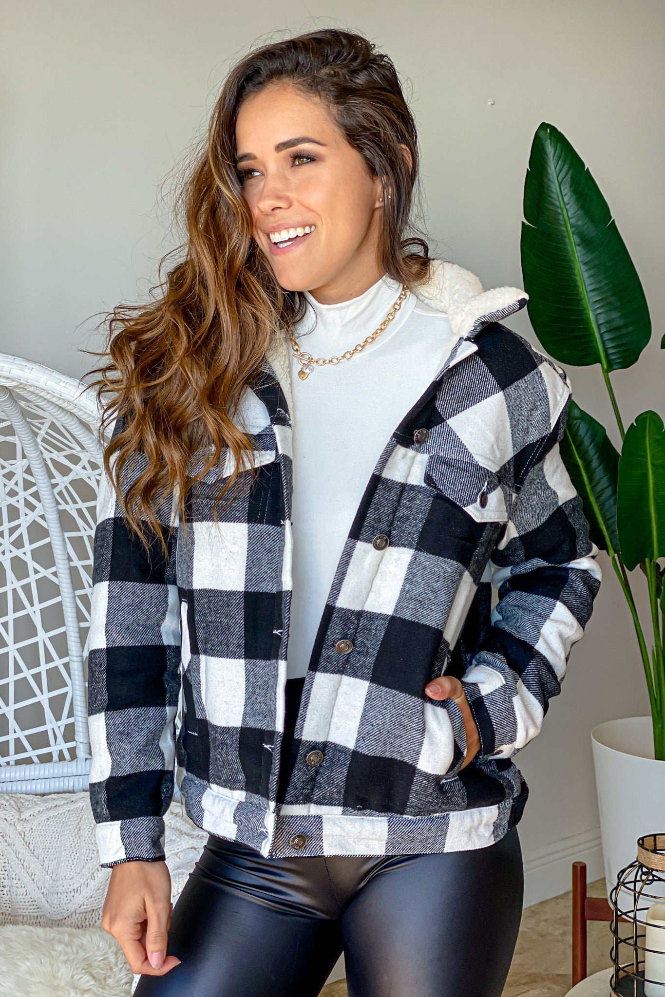 checkered cute jacket