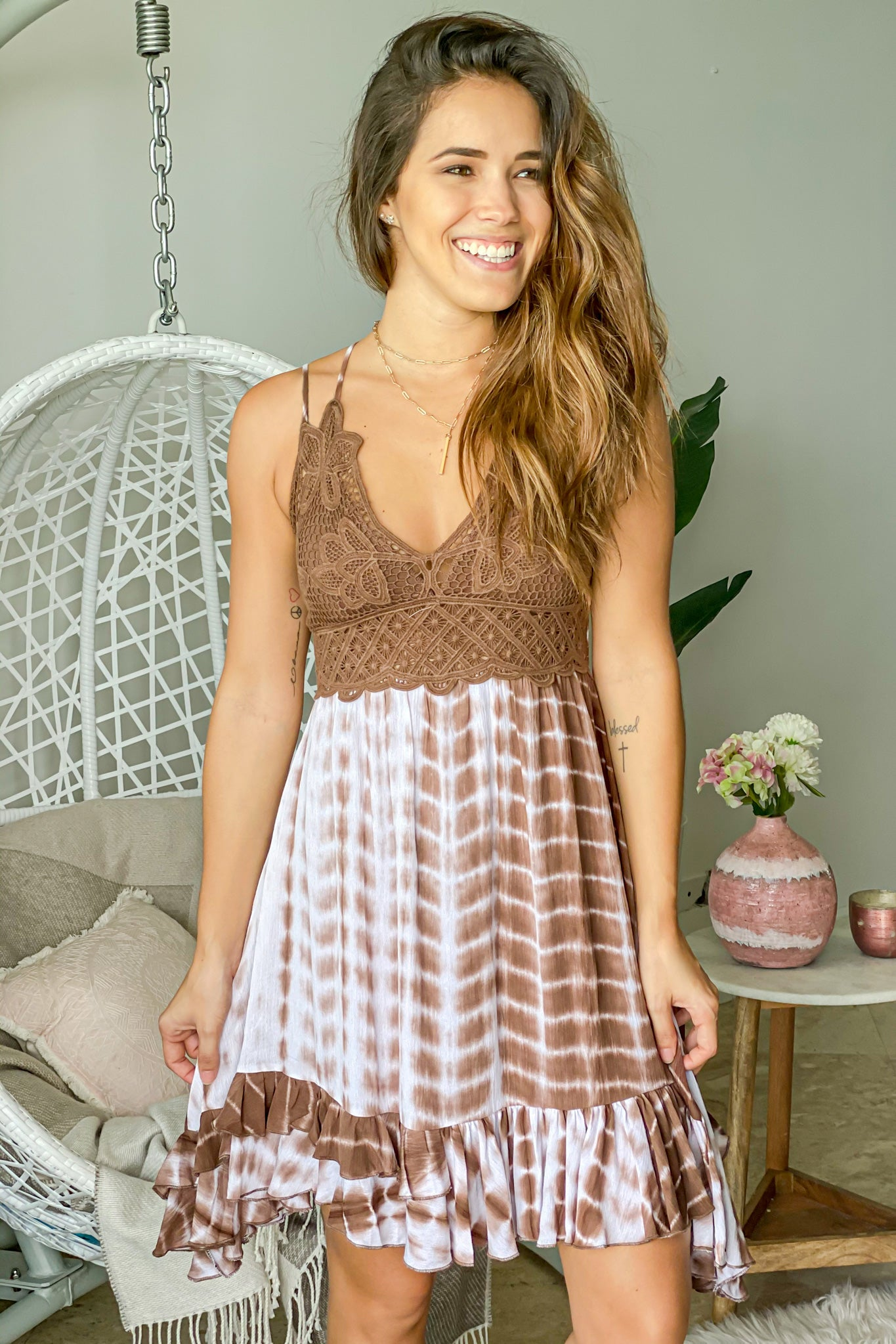 chocolate cute short dress