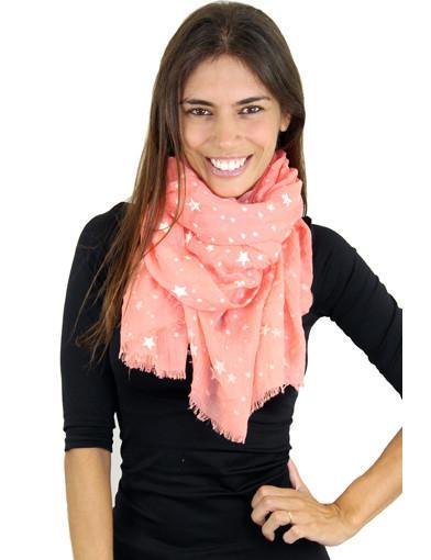 Coral scarf - main image