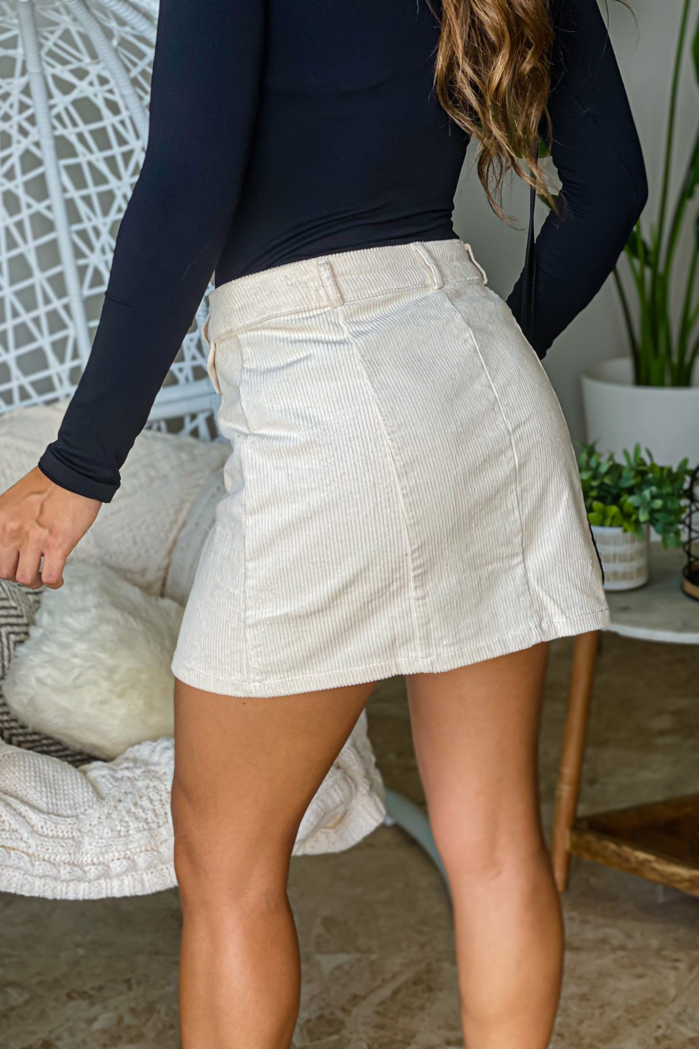 cream cute skirt