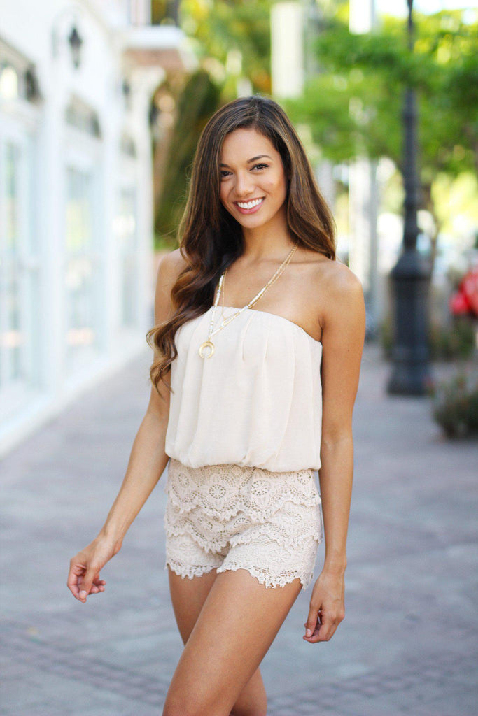 taupe dressy romper