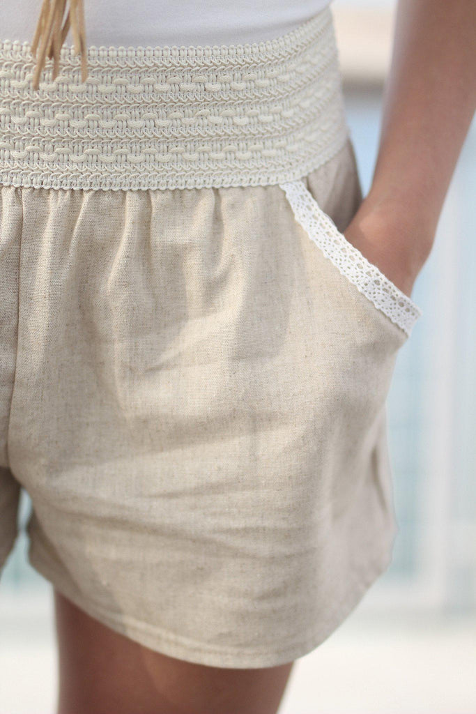 taupe fashion shorts