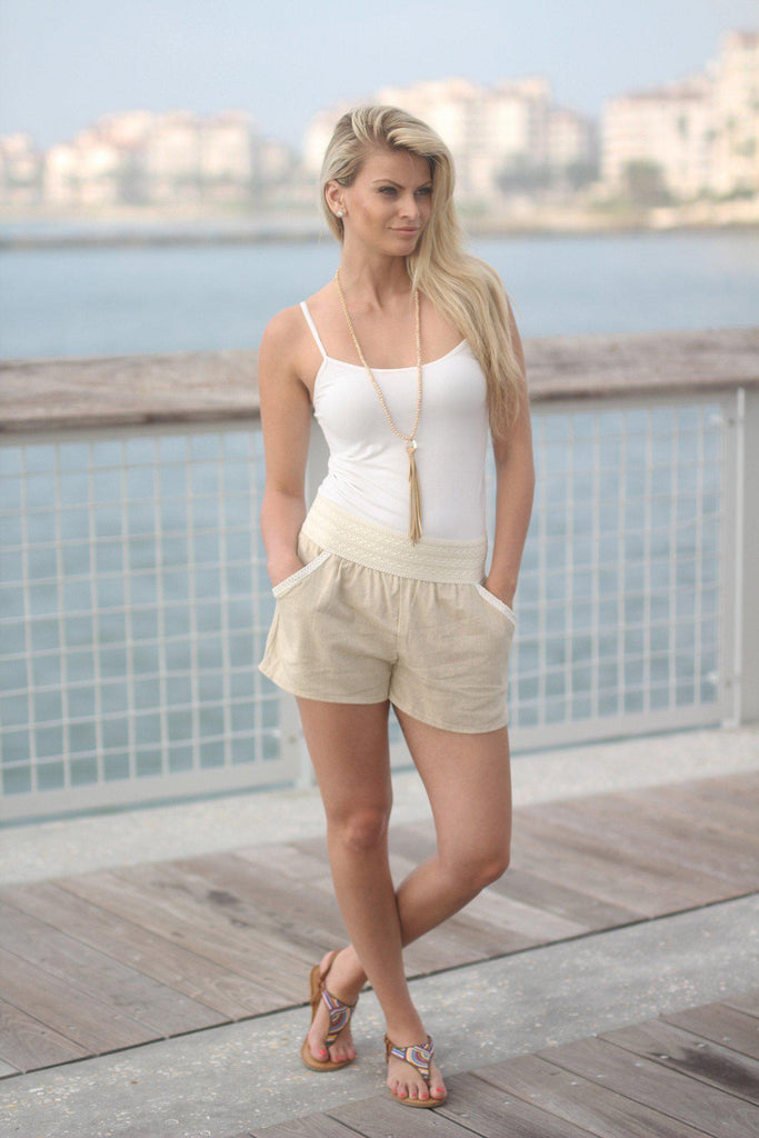 taupe summer shorts