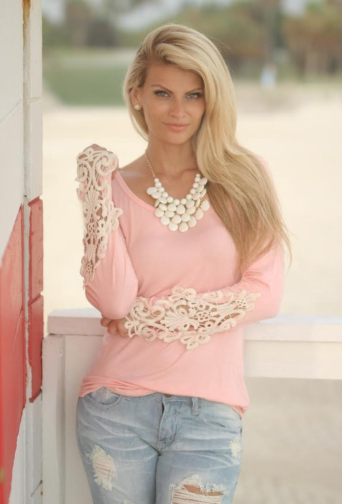crochet sleeve top