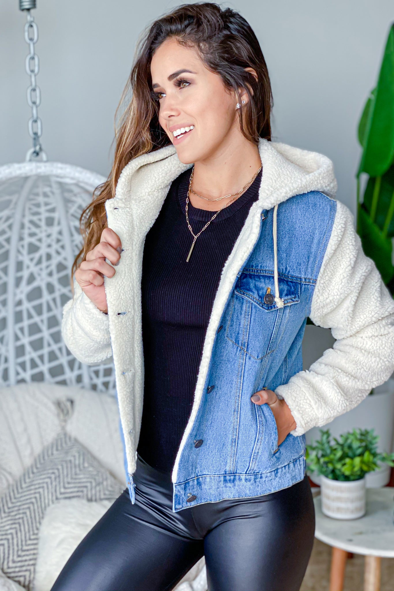 denim cute jacket