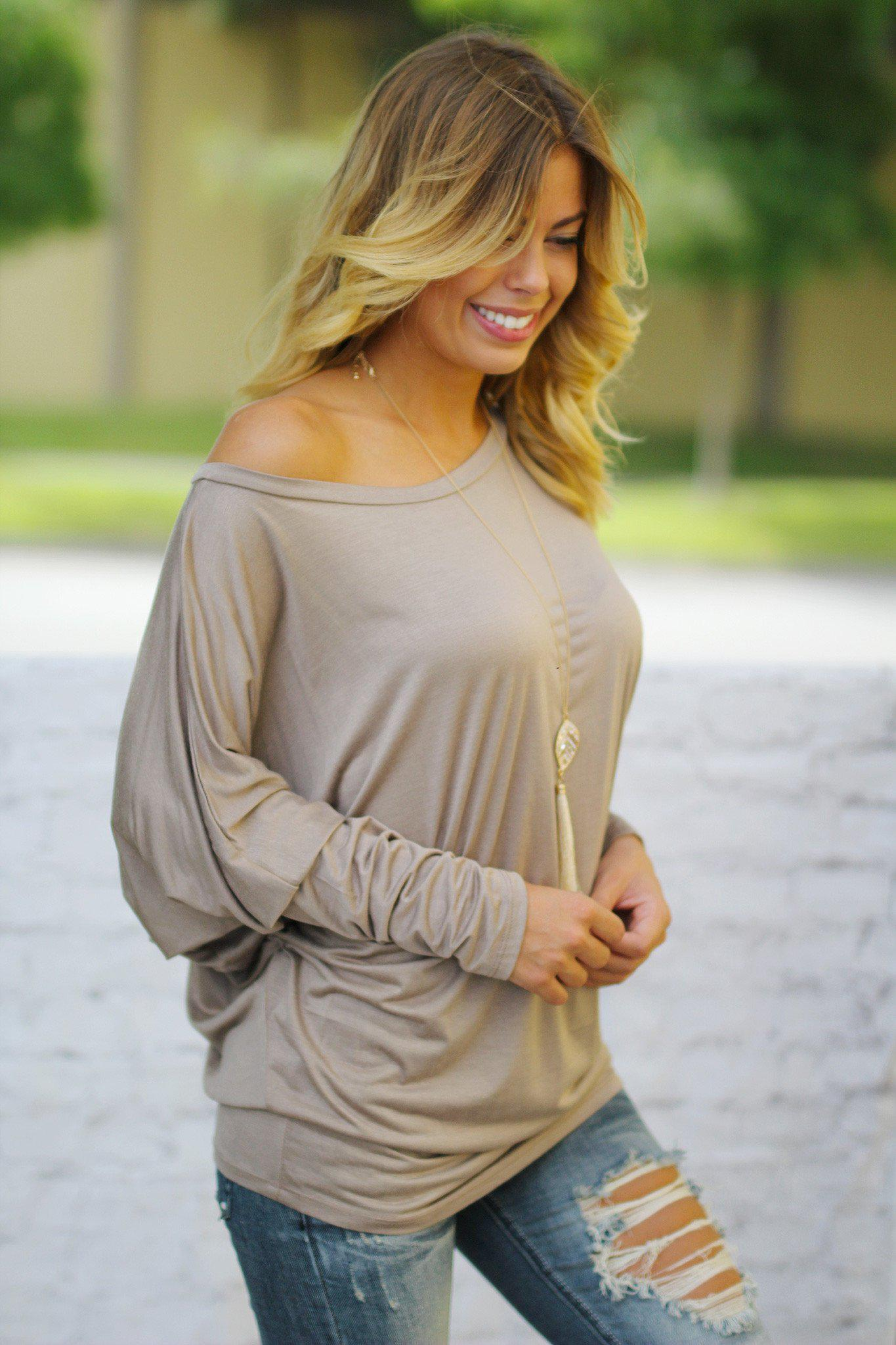 Mocha Long Sleeve Top